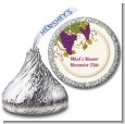 Vineyard Splash - Hershey Kiss Bridal Shower Sticker Labels thumbnail