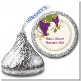 Vineyard Splash - Hershey Kiss Bridal Shower Sticker Labels