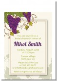 Vineyard Splash - Bridal Shower Petite Invitations
