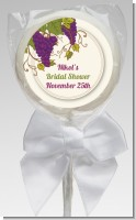 Vineyard Splash - Personalized Bridal Shower Lollipop Favors