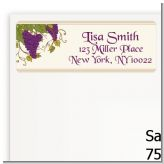 Vineyard Splash - Bridal Shower Return Address Labels