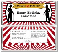 Vintage Magic - Personalized Birthday Party Candy Bar Wrappers
