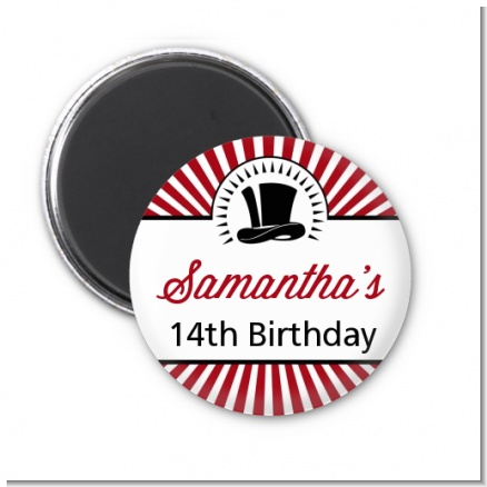Vintage Magic - Personalized Birthday Party Magnet Favors