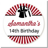 Vintage Magic - Round Personalized Birthday Party Sticker Labels