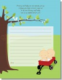 Twins Little Red Wagon Caucasian - Baby Shower Notes of Advice