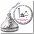 Washington DC Skyline - Hershey Kiss Bridal Shower Sticker Labels thumbnail