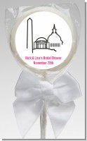 Washington DC Skyline - Personalized Bridal Shower Lollipop Favors