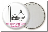 Washington DC Skyline - Personalized Bridal Shower Pocket Mirror Favors