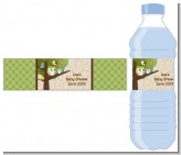Owl - Look Whooo's Having A Baby - Personalized Baby Shower Water Bottle Labels