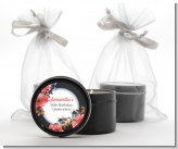 Watercolor Floral - Birthday Party Black Candle Tin Favors