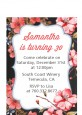 Watercolor Floral - Birthday Party Petite Invitations thumbnail