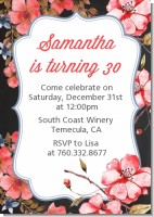 Watercolor Floral - Birthday Party Invitations