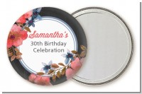 Watercolor Floral - Personalized Birthday Party Pocket Mirror Favors