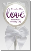 Watercolor LOVE - Personalized Bridal Shower Lollipop Favors