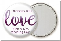 Watercolor LOVE - Personalized Bridal Shower Pocket Mirror Favors