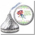 Wedding Bouquet - Hershey Kiss Bridal Shower Sticker Labels thumbnail