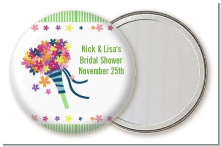 Wedding Bouquet - Personalized Bridal Shower Pocket Mirror Favors