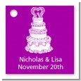 Wedding Cake - Personalized Bridal Shower Card Stock Favor Tags thumbnail