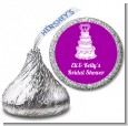 Wedding Cake - Hershey Kiss Bridal Shower Sticker Labels thumbnail