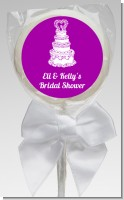 Wedding Cake - Personalized Bridal Shower Lollipop Favors