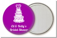 Wedding Cake - Personalized Bridal Shower Pocket Mirror Favors