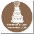 Wedding Cake - Round Personalized Bridal | Wedding Sticker Labels thumbnail