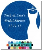 Custom Wedding Dress - Round Personalized Bridal | Wedding Sticker Labels