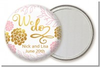 We Do - Personalized Bridal Shower Pocket Mirror Favors