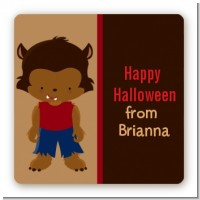 Werewolf - Square Personalized Halloween Sticker Labels