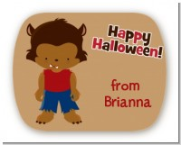 Werewolf - Personalized Halloween Rounded Corner Stickers