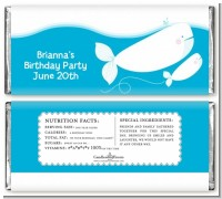 Whale Of A Good Time - Personalized Birthday Party Candy Bar Wrappers