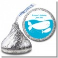 Whale Of A Good Time - Hershey Kiss Birthday Party Sticker Labels thumbnail