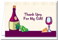 Wine & Cheese - Bridal Shower Thank You Cards
