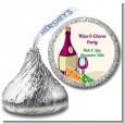 Wine & Cheese - Hershey Kiss Bridal Shower Sticker Labels thumbnail