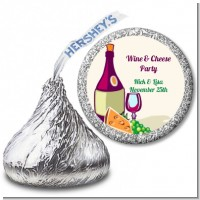 Wine & Cheese - Hershey Kiss Bridal Shower Sticker Labels