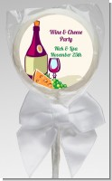 Wine & Cheese - Personalized Bridal Shower Lollipop Favors