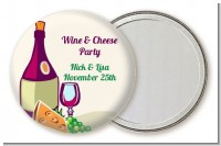 Wine & Cheese - Personalized Bridal Shower Pocket Mirror Favors