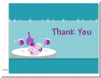 Wine Tasting Green - Bridal Shower Thank You Cards