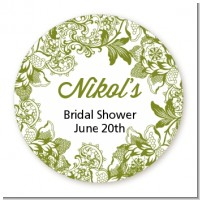 Winery - Round Personalized Bridal Shower Sticker Labels