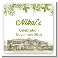Winery - Square Personalized Bridal Shower Sticker Labels thumbnail