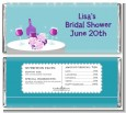 Wine Tasting Green - Personalized Bridal Shower Candy Bar Wrappers thumbnail
