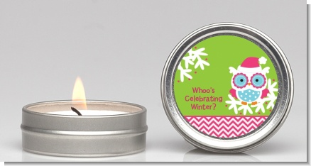 Winter Owl - Christmas Candle Favors