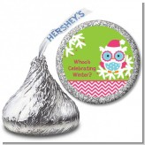Winter Owl - Hershey Kiss Christmas Sticker Labels
