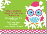 Winter Owl - Christmas Invitations