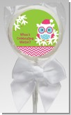 Winter Owl - Personalized Christmas Lollipop Favors