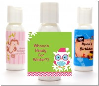 Winter Owl - Personalized Christmas Lotion Favors