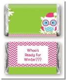 Winter Owl - Personalized Christmas Mini Candy Bar Wrappers