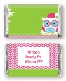Winter Owl - Personalized Christmas Mini Candy Bar Wrappers thumbnail