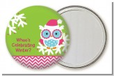 Winter Owl - Personalized Christmas Pocket Mirror Favors