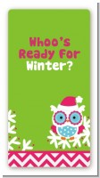 Winter Owl - Custom Rectangle Christmas Sticker/Labels